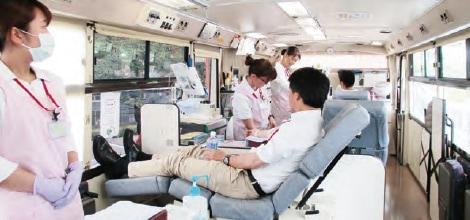 画像:献血活動